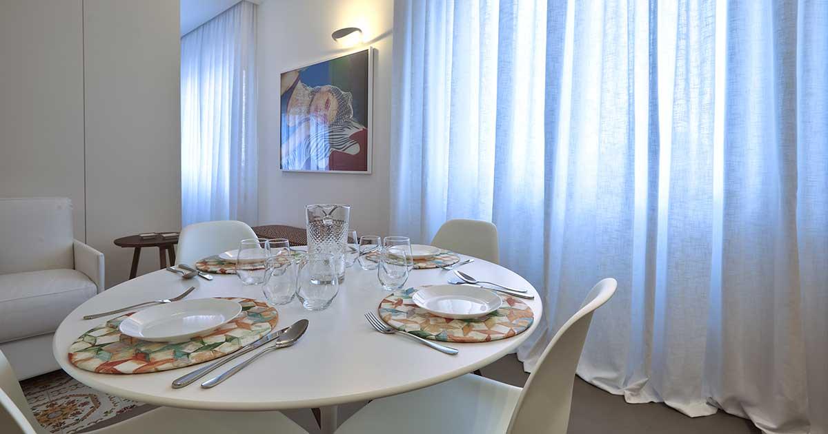 cucina di appartamento in case vacanze capo d'orlando
